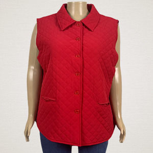 Drapers & Damons Quilted Button Front Vest Jacket